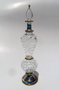 Egyptian handmade perfume bottles - fine pyrex glass - GE14