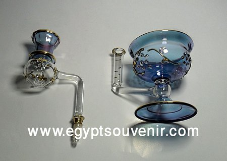 Egyptian Handmade Pyrex Glass mouth blown aromatherapy diffuser model 22
