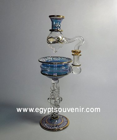Egyptian Handmade Pyrex Glass mouth blown aromatherapy diffuser model 21