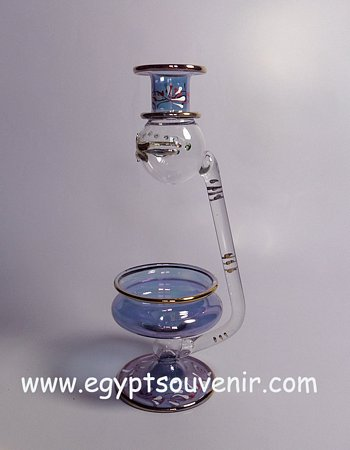 Egyptian Handmade Pyrex Glass mouth blown aromatherapy diffuser model 15