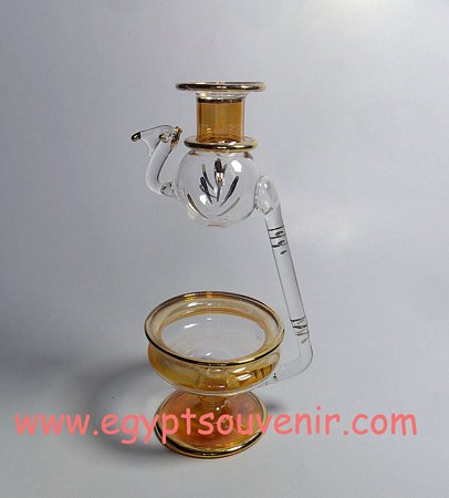 Egyptian Handmade Pyrex Glass mouth blown aromatherapy diffuser model 13