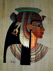 Queen Cleopatra Papyrus Painting