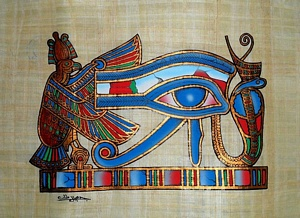 Horus Eye Papyrus Painting