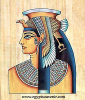 Cleopatra Papyrus - Egyptian hand made papyrus painting