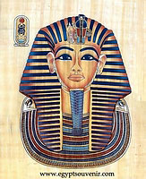 Tut Ankh-Amun Papyrus - Egyptian hand made papyrus painting