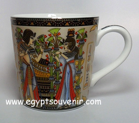 Egyptian Porcelain Mug  PORM18