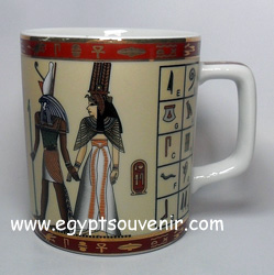 Egyptian Porcelain Mug  PORM39