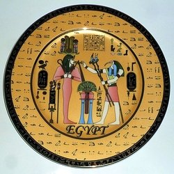 Osiris & Thoth porcelain plate