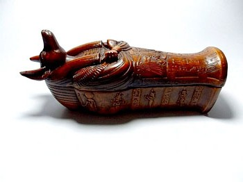 Ancient Egypt God Anubis Coffin with Mummy