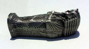 Metal King Tut Coffin - Egyptian Sculptures, Statues